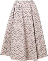 Rochas floral brocade full skirt