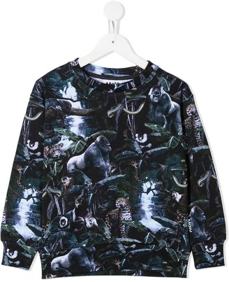 Molo Moonlit Jungle Print Sweatshirt