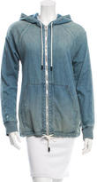 Rag & Bone Denim Hooded Sweatshirt