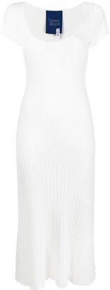 Simon Miller Ribbed Short-Sleeve Dress