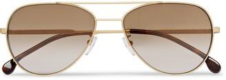 Paul Smith Aviator-Style Gold-Tone And Tortoiseshell Acetate Sunglasses