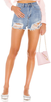 superdown Simi Distressed Denim Short. - size 23 (also