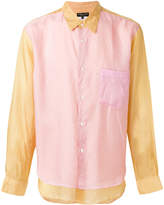Comme des Garcons two-tone layered shirt