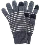 Muk Luks Women's Striped Texting Gloves