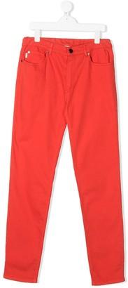 Paul Smith TEEN zebra patch slim-fit jeans