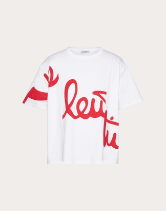 Valentino Uomo T-shirt Man White/red 100% Cotone L