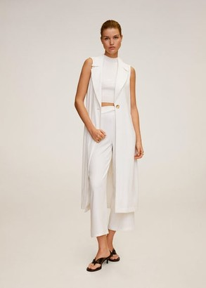 MANGO Belt culottes trousers white - S - Women