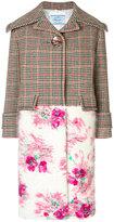 Prada rose panel coat