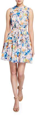 Saloni Tilly Floral-Print Ruffle Dress