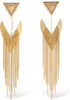 Erickson Beamon Smoking Jacket Gold-plated Swarovski Crystal Earrings - One size
