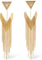 Erickson Beamon Smoking Jacket Gold-plated Swarovski Crystal Earrings