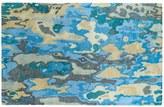 Kaleen Brushstrokes Paint Drips Abstract Wool Rug