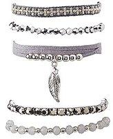 Charlotte Russe Beaded Leaf Layering Bracelets - 5 Pack