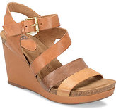 Sofft Candia Banded Leather Wedge Sandals