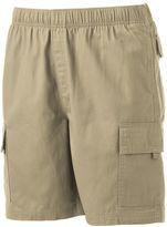Croft & Barrow Big & Tall Classic-Fit Canvas Twill Elastic Cargo Shorts