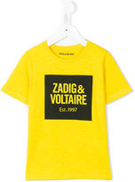 Zadig & Voltaire Kids - logo print T-shirt - kids - Cotton - 6 yrs