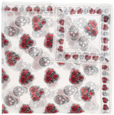 Alexander McQueen poppy and skull scarf - women - Silk - One Size