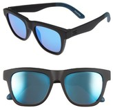 Toms Men's Dalston 54Mm Sunglasses - Matte Black Blue Mirror