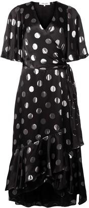 Dvf Diane Von Furstenberg Polka-Dot Flared Dress