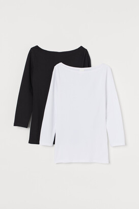 H&M 2-pack Boat-neck Tops