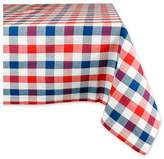 Design Imports Red & Blue Check Tablecloth