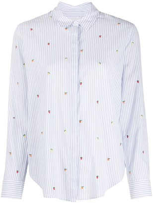Rails Taylor striped embroidered detail shirt