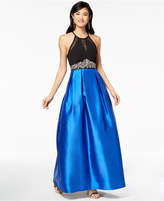 Teeze Me Juniors' Embellished Illusion Fit & Flare Gown, a Macy's Exclusive Style