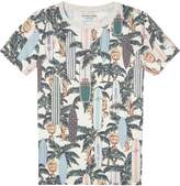Scotch & Soda Tropical Print T-Shirt The Pool Side