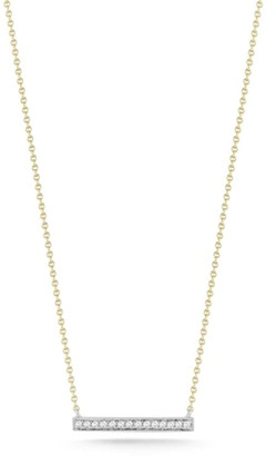 Dana Rebecca Sylvie Rose Medium Bar Necklace in Yellow Gold