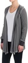 Allen Allen Two-Pocket Hooded Cardigan Sweater (For Women)