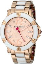 Betsey Johnson Women's BJ00459-05 Analog Display Quartz Rose Gold Watch