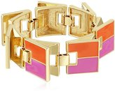 "Trina Turk Retro Sport"" Color Blocked Flex Gold Strand Bracelet, 7.5"""