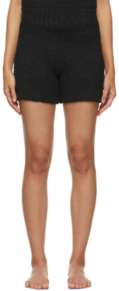 SKIMS Black Knit Cozy Shorts