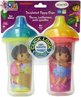 Munchkin Dora the Explorer Click Lock Insulated Sippy Cup, 9-Ounce, 2-Count