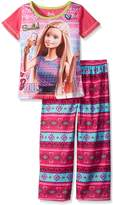 "Barbie Big Girls' ""Smile!"" 2-Piece Pajamas"