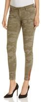 Etienne Marcel Ankle Zip Skinny Jeans in Camo Green