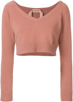 No.21 scoop V-neck sweater
