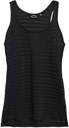 The Upside Issy Striped Stretch-jersey And Mesh Tank