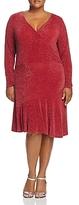 MICHAEL Michael Kors Metallic Faux Wrap Flounce Dress
