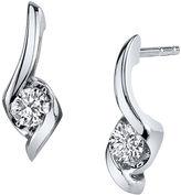 Sirena 1/4 CT. T.W. Round Diamond 14K White Gold Earrings