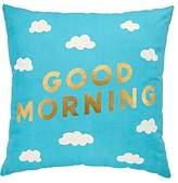 Good Morning/Night Throw Pillow