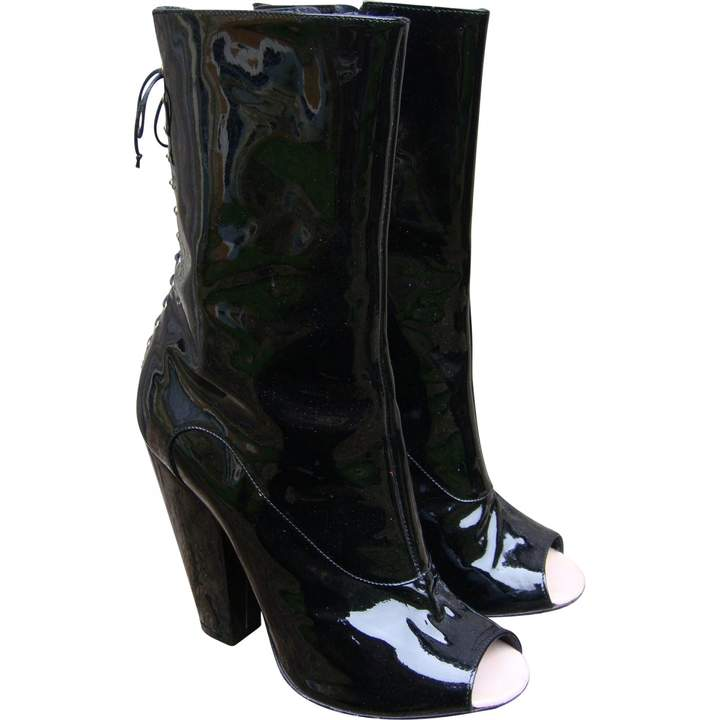 Givenchy Black Patent leather Ankle boots