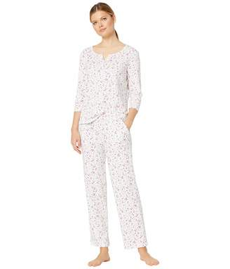 Karen Neuburger Women's Pajamas Long-Sleeve Pullover Henley Pj Set