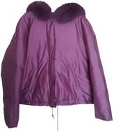 Blumarine Purple Silk Jacket for Women