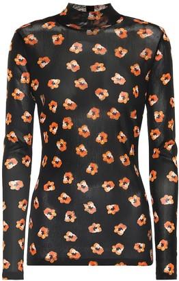 Diane von Furstenberg Remy floral mesh top