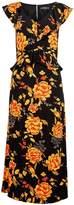 Dorothy Perkins Flower Ruffle Midi Dress - Multi