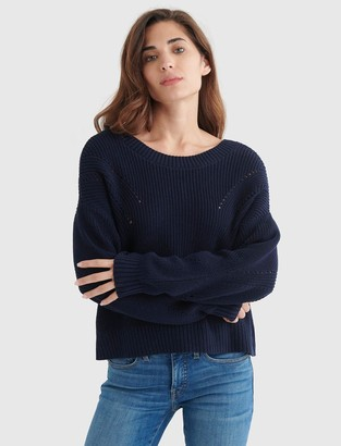Cropped Rib-Knit Pullover Sweater