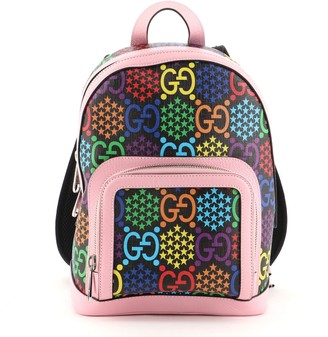 Gucci Zip Pocket Backpack Psychedelic Print GG Coated Canvas Small