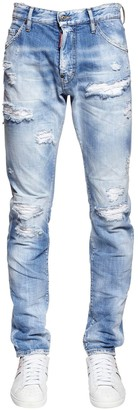 DSQUARED2 16.5CM COOL GUY RAINBOW DENIM JEANS