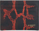 Givenchy Degrade Python-print Textured Leather Card Holder